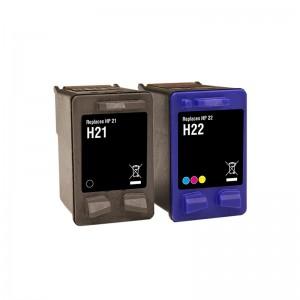 Tindikomplekt HP 21XL + 22XL 4-värvi, analoog