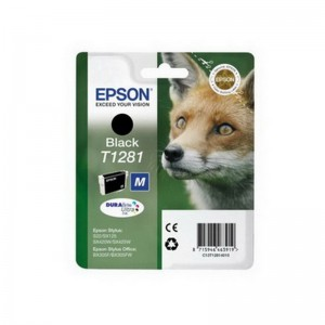 Tindikassett Epson T1281, 5,9ml, must