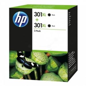 HP Ink No.301XL Black Dual Pack (D8J45AE)