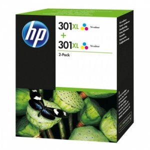 HP Ink No.301XL Color Dual Pack (D8J46AE)