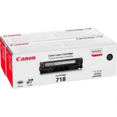 Canon Cartridge 718 Black Twin Pack (2662B005) (2662B017) x2